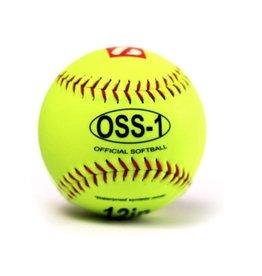 """barnett OSS-1 Softball Ball Training, Größe 12"""", Farbe fluo gelb 2 Stück"""