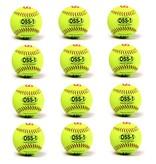 """barnett OSS-1 Softball Ball Training, Größe 12"""", Farbe fluo gelb, 12 Stück (1 Dutzend)"""
