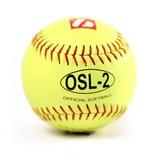 """barnett OSL-2 Softball Ball Wettkampf, Größe 12"""", Farbe fluo gelb 12 Stück (1 Dutzend)"""
