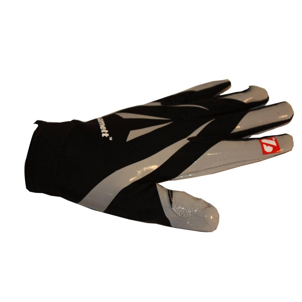 barnett FRG-03 American Football Handschuhe Empfänger Receiver Profi, RE,DB,RB, schwarz