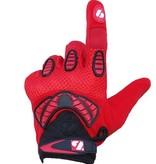 barnett FRG-02 American Football Handschuhe Receiver, Empfänger fit, RE,DB,RB, rot