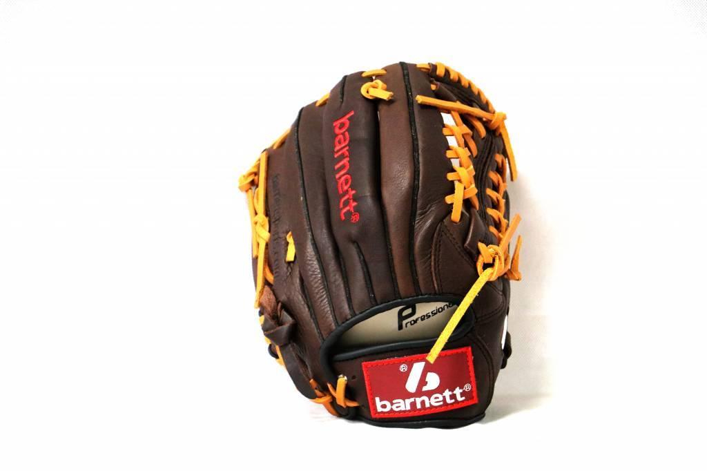"""barnett GL-115 Baseball Handschuh, Echtleder, Wettkampf, Infield, Größe 11,5""""(inch), braun"""