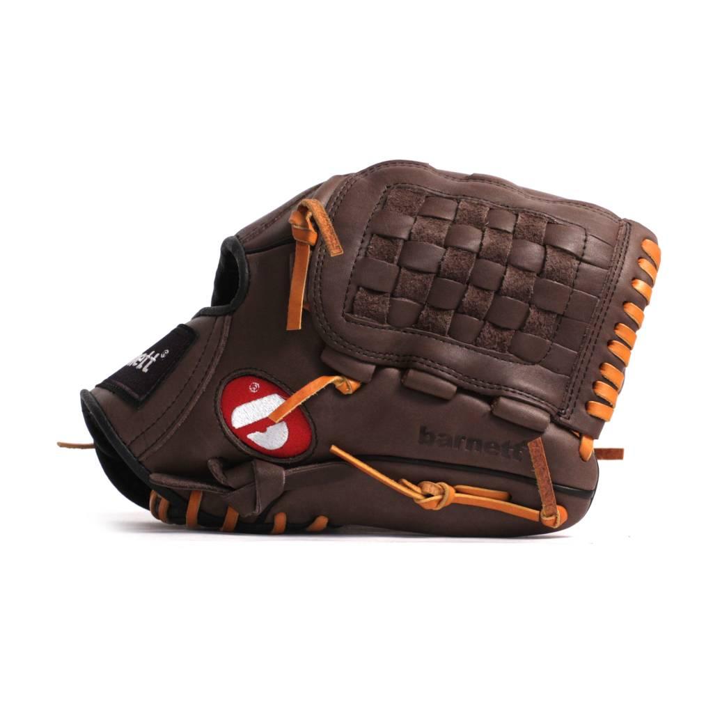 """barnett GL-120 Baseball Handschuh, Echtleder, Wettkampf, outfield Größe 12"""" (inch), braun"""
