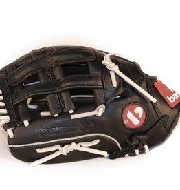 """barnett GL-127 Baseball Handschuh, Echtleder, Wettkampf, Outfield & Softball Größe 12,7"""" (inch), schwarz"""