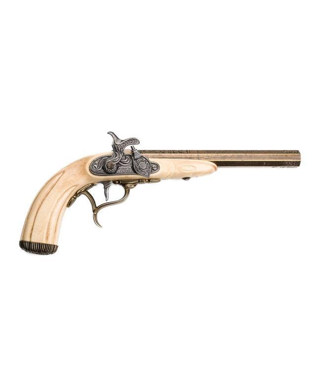 Joseph Kirner Perkussionspistole, 1807, elfenbeinfarben