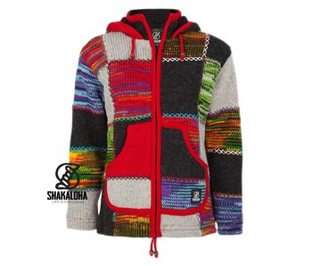 Shakaloha Dames Patchwork NH Multi Color ( Rood)