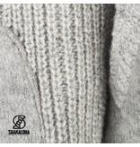 Shakaloha Finn Grijs gebreid wollen vest met fleece voering en filt panelen