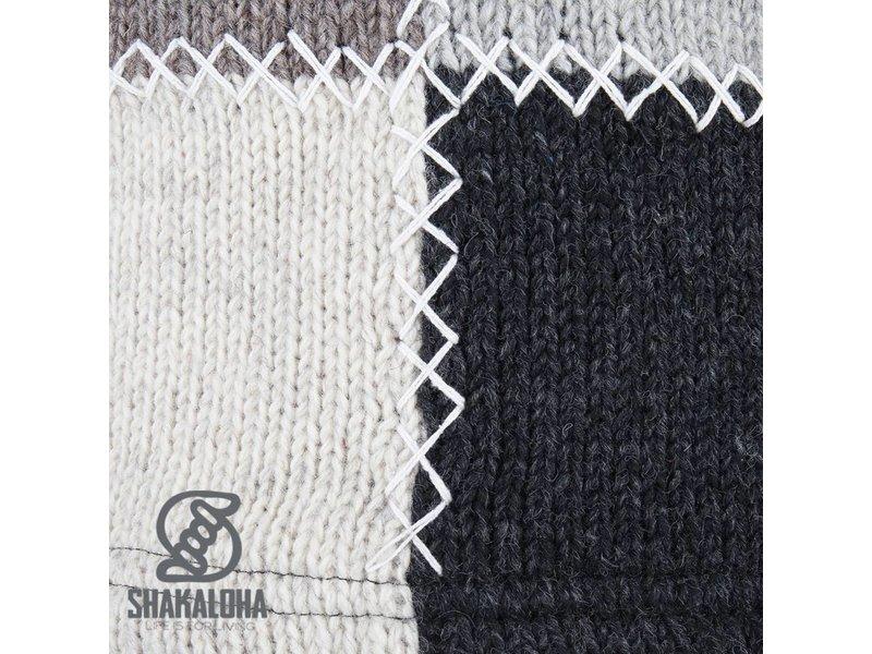 Shakaloha Patchwork Natural fleece gevoerd wollen vest voor dames