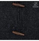 Shakaloha Woodcord Antraciet gebreid wollen dames vest met fleece binnenvoering