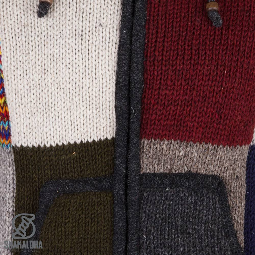 Bestel nu gekleurd patchwork vest met verschillende vlakken