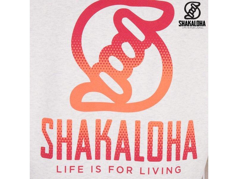 Shakaloha Men's Ziphood Organic Cotton Orange/Red Print