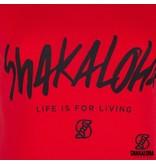 Shakaloha Womens Shirt Organic Cotton with Shakaloha Print