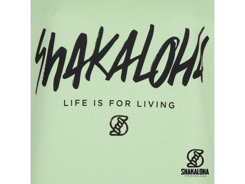Shakaloha Women's Sweater Escaper Lime - Organic Cotton with Shakaloha print