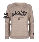 Shakaloha Women's Sweater Tripper Clay - Organic Cotton with Shakaloha print