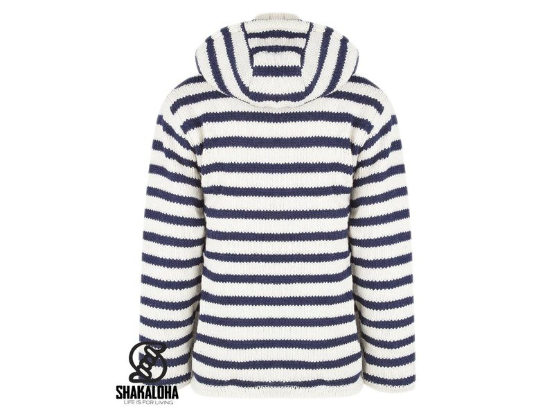 Shakaloha Split Ziphood White Navy