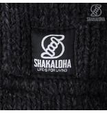 Shakaloha Fleece gevoerd nepalees Wollen vest met schuine banen Twist Brown