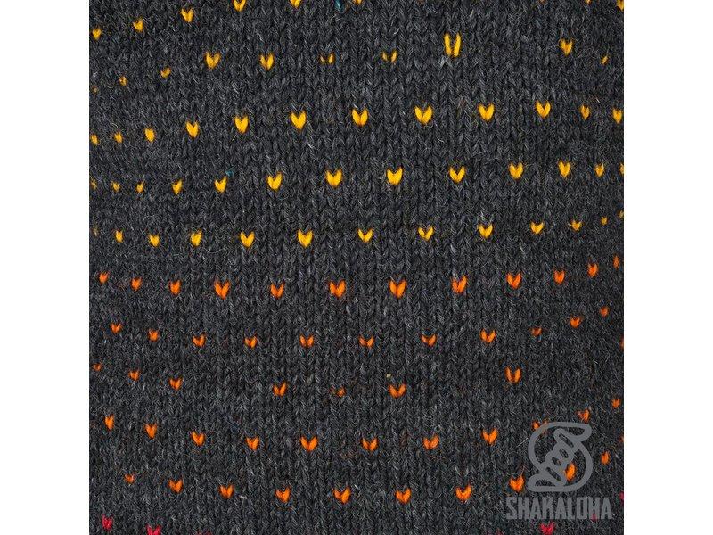 Shakaloha Disco Zwart Multicolor wollen vest voor dames met bonte stippen