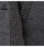Shakaloha Finn Antraciet Gebreid Wollen Heren Vest met fleece voering afwerkt met filt