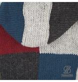 Shakaloha Shakaloha Patchwork Winston fleece gevoerd wollen vest voor mannen of unisex