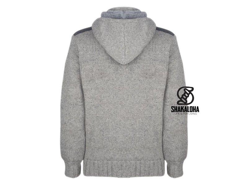 Shakaloha Sherpa Gebreid Vest van zuivere wol met afneembare capuchon