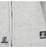 Shakaloha Gebreid grijs wollen vest voor heren van Shakaloha Chitwan Classic Grey