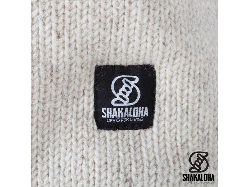 Shakaloha Extra lang wollen dames vest Whistler Beige