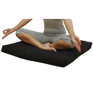 Love Generation Traditional Zabuton Meditation Mat - Black