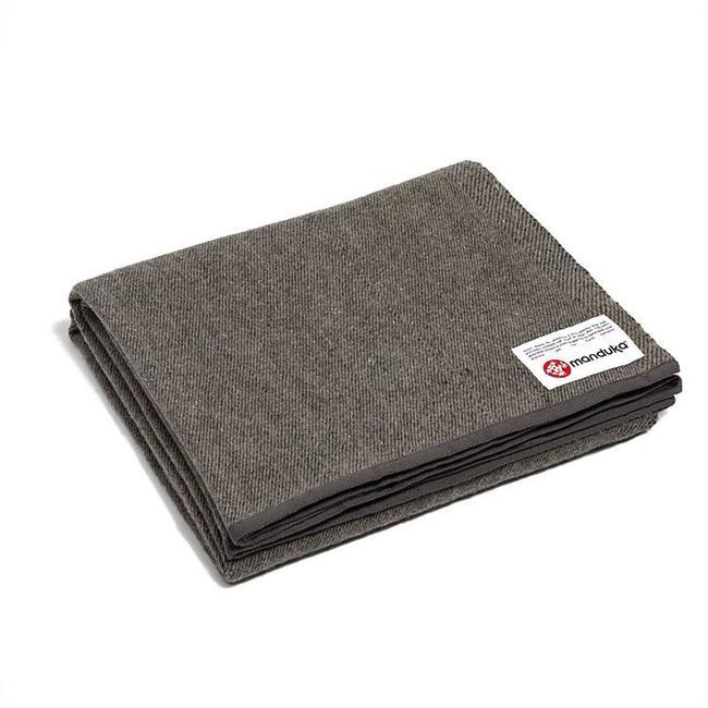 Yoga Decke Recycling-Wolle - Sediment - Grau