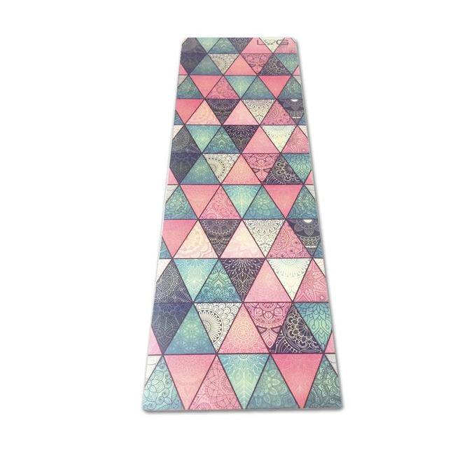 Love Generation Triangles Yoga Mat