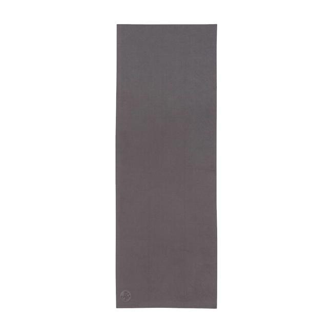 Manduka eQua Yoga Towel - 183 cm - Thunder - Grau