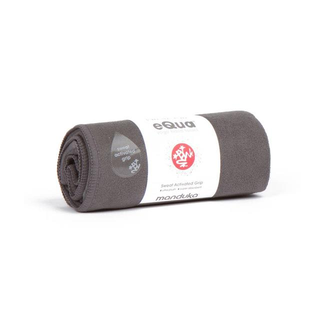 Manduka eQua Hand Towel - 41 cm - Thunder - Grijs