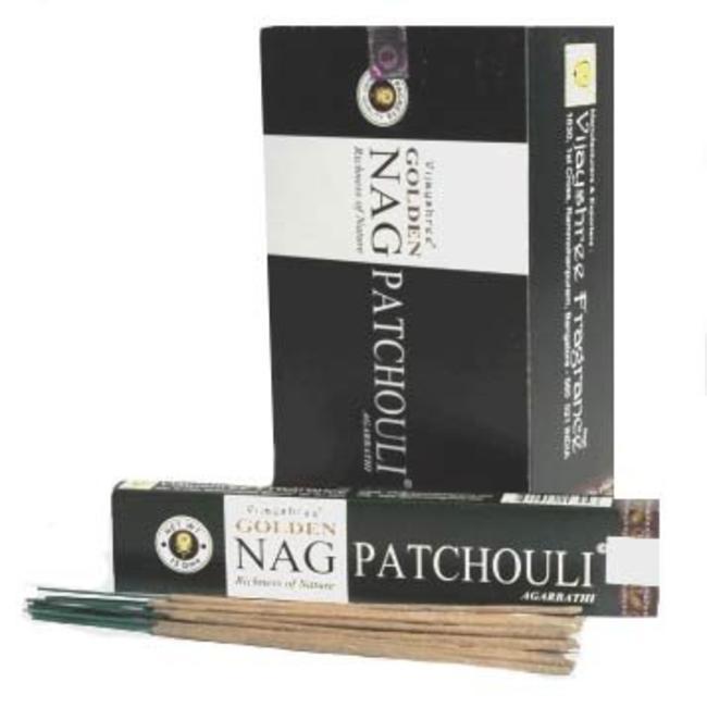 Golden Nag Patchouli Wierook Stokjes - Doos 12 stuks