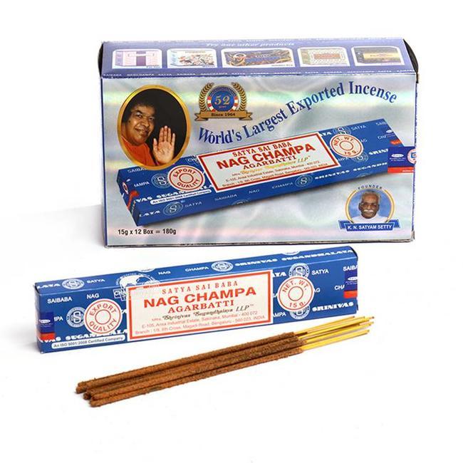 Satya Incense - Nag Champa - Box of 12 pieces