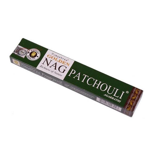 Golden Nag Patchouli Wierook Stokjes - 15 gr