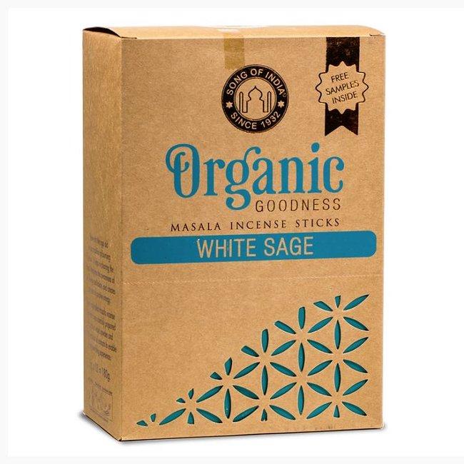 Organic Goodness - Masala Incense Sticks - White Sage - Box of 12 pieces