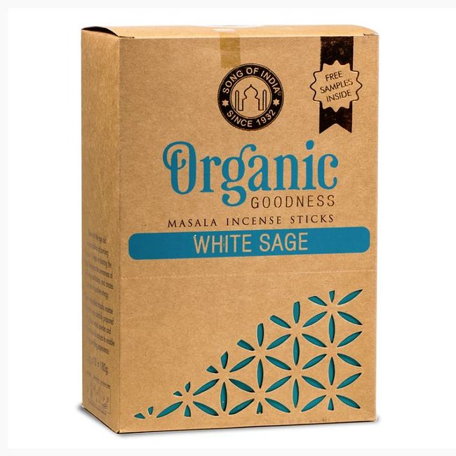 Organic Goodness - Masala Weihrauch - Weißer Salbei - Schachtel mit 12 Stück