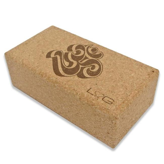 Love Generation Cork Yoga Brick - Ohm