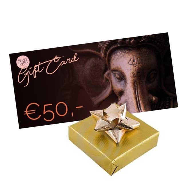 Yogashop Geschenkgutschein 50 Euro