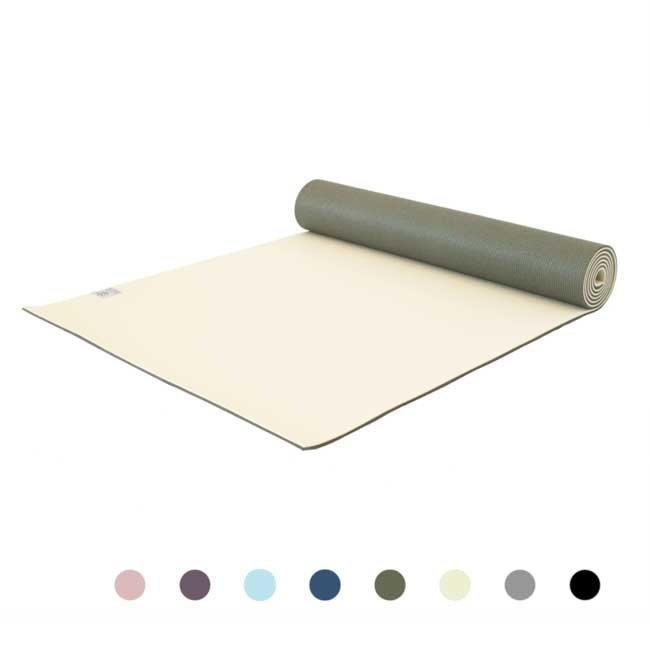 Premium Yogamatte - Graceful Green -  Hellgrün - 6mm