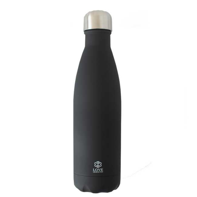 Love Generation Water Bottle Matte  - Black - Insulated