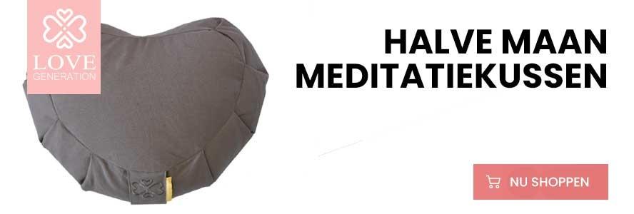 halvemaan meditatiekussen kopen