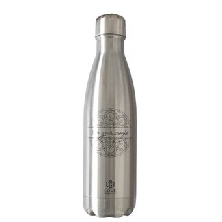 Love Generation Wasserflasche Glossy Silber - Insulated