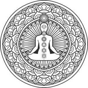 betekenis van een mandala kleurplaat met buddha