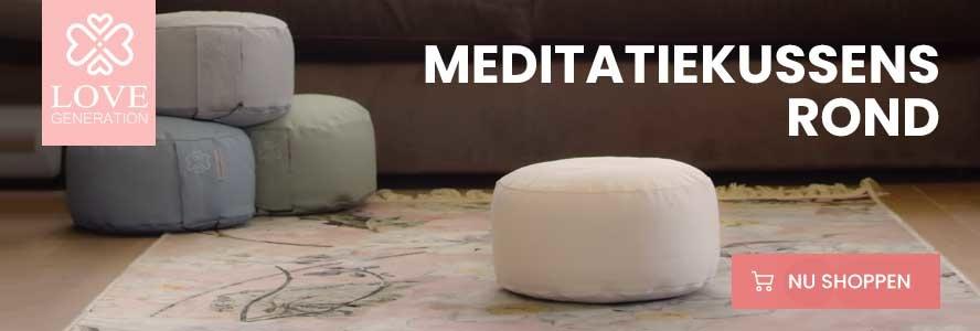 meditatiekussen rond in verschillende kleuren