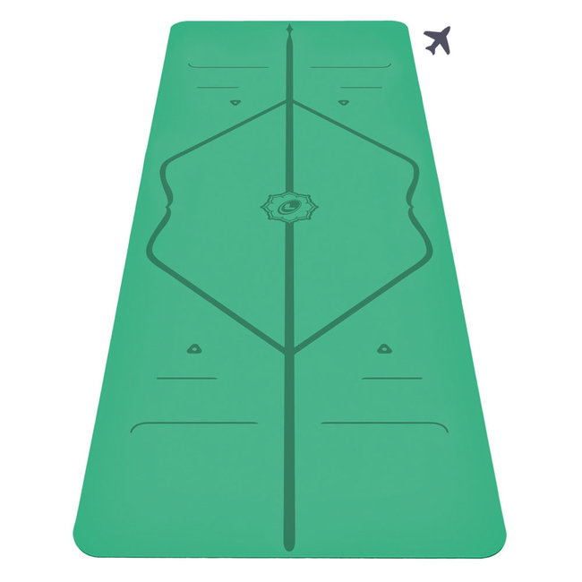 Liforme Travel Yogamatte - 2mm - Grün