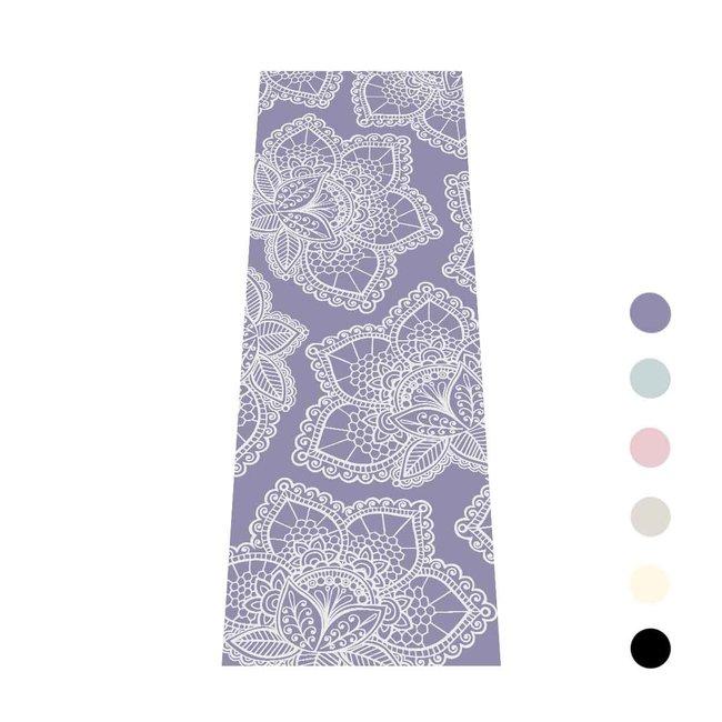 Extra Dikke Yogamat   Lavendel met Lotus Print   Sticky - 6 mm   Love Generation