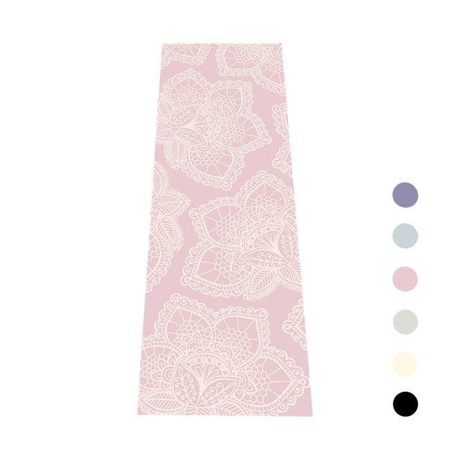 Extra Dikke Yogamat | Lotus Print | Roze | Sticky - 6 mm | Love Generation