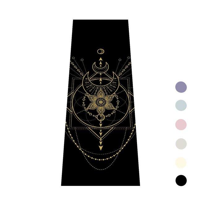Love Generation Yogamat Sacred - Extra Dik - Zwart