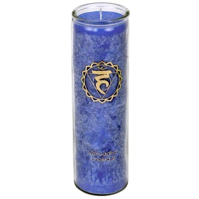 Duftkerze Fünftes Chakra - Stearin - Marokkanische Rose & Kamille