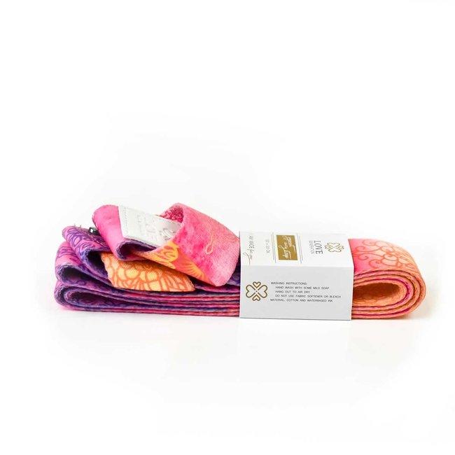 Yoga mat Sling - Royal - Pink